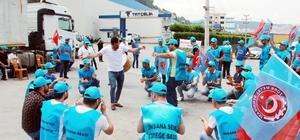 Demir çelik fabrikası işçileri greve çıktı