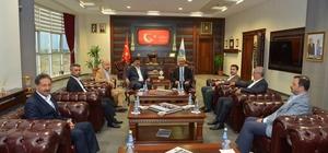 Rektör Karakaya, Cumhurbaşkanı danışmanları ve bakanlık bürokratları ile biraraya geldi