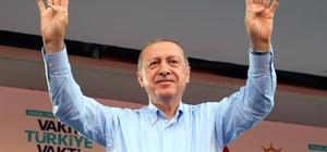 """Cumhurbaşkanı Erdoğan Mardin'de Cumhurbaşkanı Recep Tayyip Erdoğan: """"Oy uğruna camilerde bol bol fotoğraf çektiriyor"""" """"Seçim maratonu Bay Muharrem'e yaramadı, yorgun düştü, şimdiden araba hararet yaptı"""""""