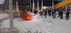 Emet Bor İşletme personeline yangın eğitimi