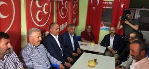 Bakan Arslan MHP seçim bürosunu ziyaret etti