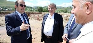 Vali Pehlivan Kültür Han inşaatında incelemelerde bulundu Vali Pehlivan Çatıksu ve Pınargözü köylerini ziyaret etti
