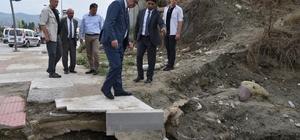 Başkan Ergün'den minik Rüzgar'ın ailesine taziye ziyareti