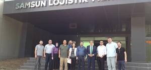 Alaçam MYO yetkilileri Lojistik Merkezinde
