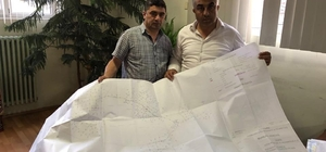 Hisarcık'ı doğalgaza kavuşturma çalışmaları
