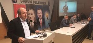 """AK Parti'den sandık görevlileri ve müşahitlere eğitim AK Parti Çorum İl Başkanı Mehmet Karadağ; """"Sandıklara sahip çıkmak boynumuzun borcudur"""""""