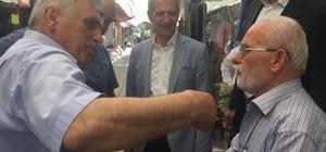Başkan Dişli ve Milletvekili Adayı İnci'den Uzunçarşı esnafına ziyaret
