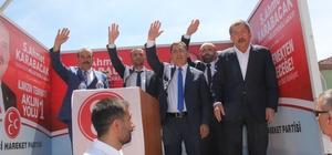 MHP seçim çalışmalarına Eskipazar'da devam etti