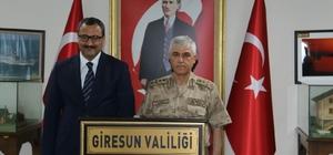 Jandarma Genel Komutanı Orgeneral Çetin Giresun'da