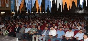 AK Parti Çine'de Savaş'la çıkarma yaptı MKYK Üyesi ve milletvekili adayı Mustafa Savaş, 400 kişiye rozet taktı