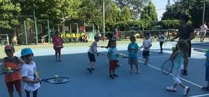 Tekirdağ'da ücretsiz tenis kursları başladı
