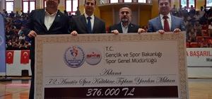 Adana'daki amatör spor kulüplerine 376 bin lira yardım Gençlik ve Spor Bakanlığı tarafından amatör spor kulüplerinin desteklenmesine yönelik çalışma kapsamında Adana'daki amatör spor kulüplerine toplamda 376 bin lira nakdi yardım yapıldı