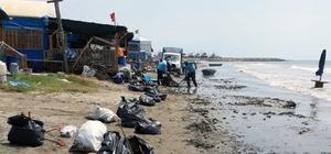 Adana'nın plajları temizlendi Adana Büyükşehir Belediyesi, Yumurtalık ve Karataş'taki kumsalları özel donanımlı makinelerle temizlik çalışması yaptı