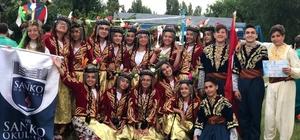 SANKO Okulları başarıya doymuyor Halk oyunları grubu Ukrayna'da birinci oldu