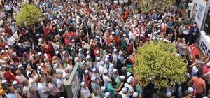 AK Parti Çaycuma'da gövde gösterisi yaptı Çaycuma'da meşaleli ve konfetili miting