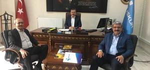 Başkanlar'dan Müdür Kamil Uçan'a teşekkür ziyareti