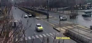 Kontrolden çıkan otomobil takla attı Kaza anı saniye saniye kaydedildi