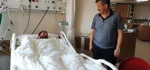Türkmen ve Tosun'dan yaralı madencilere ziyaret