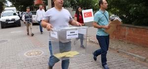 Çanakkale'de Cumhurbaşkanı ve 27. Dönem Milletvekili Genel Seçimi için Türkiye genelinde oy verme işlemi