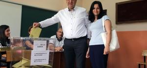 Giresun Belediye Başkanı Kerim Aksu oyunu kullandı