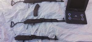 Hakkari kırsalında silah ve örgütsel doküman ele geçirildi