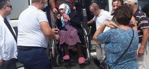 Yaşlı ve engellilere sandıklara taşındı