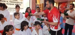 Erzurum'da karateciler hafta sonunda kuşak sınavı heyecanı yaşadı