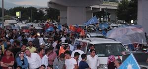 Konya'da seçim kutlamaları