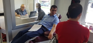 Mobil kan toplama aracı Aşkale'de