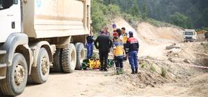 Kütahya'da kamyonun altında kalan işçi öldü