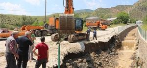 Erzurum'daki sel hayatı durma noktasına getirdi Köyde köprüler çöktü, içme suları kesildi, ekili ve dikili alanlar zarar gördü