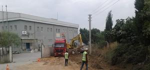 Gebze'de yol yapım çalışmaları devam ediyor