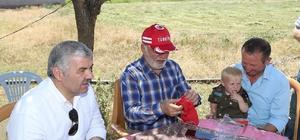 Başkan Çelik Sarıoğlan'ı ziyaret etti