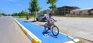 Kartepe'de masmavi bisiklet yolları