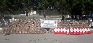 Kayseri'de 3 ton kaçak tütün ele geçirildi