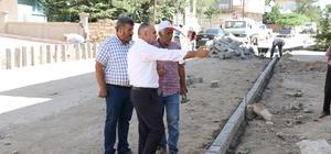 Yahyalı'da doğalgaz hattı geçen sokaklar asfaltlanıyor