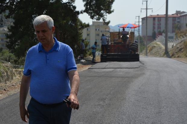 Fevzipaşa ve Yenikent mahalleleri birbirine bağlandı Söke Belediyesinden yeni açılan Esin Sokakta 10 bin metrekare asfalt yol çalışması