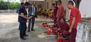 Dörtyol'da orman yangınlarına karşı etkili mücadele eğitimi ve denetimi yapıldı