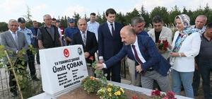 """15 Temmuz şehidi Ümit Çoban dualarla anıldı Amasya Valisi Dr. Osman Varol: """"15 Temmuz, dünya toplumlarına ve devletlerine ders veren bir destandır"""""""