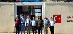 Milli Eğitim Müdürü Yavuz Suriye'deki okullarda incelemelerde bulundu