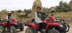 Şehit çocukları ATV'lerde Kapadokya vadilerini keşfettiler