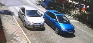 Sürücünün manevrası küçük kızın araç altında kalmasını önledi