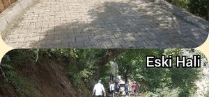 Şemdinli'de cadde ve sokaklara kilit parke taşı döşeniyor