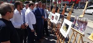 """Edremit'te İHA'nın """"15 Temmuz"""" fotoğraf sergisi açıldı"""