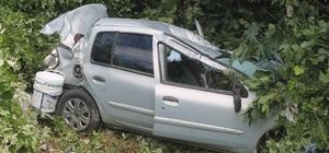 Kazayı seyreden sürücü su kanalına yuvarlandı