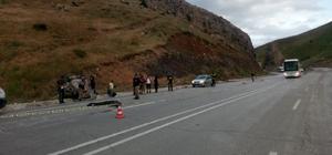 Erzincan'da trafik kazası: 1 ölü, 1 yaralı