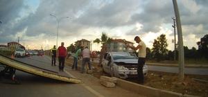 Karasu'da trafik kazası: 2 yaralı
