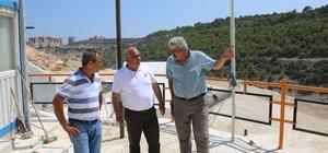 Başkan Tollu, taş kırma tesisini denetledi
