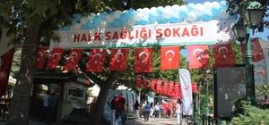 """Bu sokak başka sokak Bir hafta süreyle bu sokakta genel sağlık hizmetleri ücretsiz verilecek Eskişehir'den bir yenilik daha: """"Halk Sağlığı Sokağı"""" açıldı"""