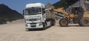 Giresun İl Özel İdaresi tarafından son 6 ayda 150 bin ton asfalt ve beton malzeme üretildi
